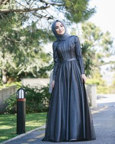 2019 Hijab Evening Dresses Models Navy Blue Long Flared Skirt Beaded Embroidered - Hijab Evening Dress Models Navy Blue Long Flared Skirt Bead Embroidered You are in the right place a - Hijab Prom Dress, Muslimah Wedding Dress, Hijab Evening Dress, Muslim Wedding Dresses, Muslim Dress, Evening Dresses, Dress Outfits, Fashion Dresses, Prom Dresses