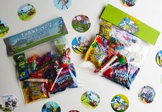 Regular Show Favor Bag Toppers  - DIY printable favor Bag toppers for a Regular Show Party
