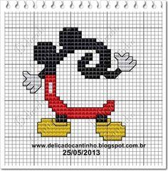 Delicado Cantinho: Monograma Mickey   C