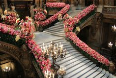 Stunning staircase by Eric Chauvin florist