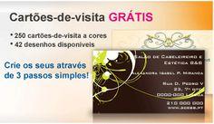 Cartões de Visita Grátis online