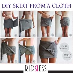 Any random piece of cloth at your home is a potential skirt. Comment if you've tried this amazing DIY Draped skirt at home!! #DIY #TryNow #Fashionistas #FashionGirls #LoveForFashion #Fashion #FameFashion #Love #StyleDiaries #Itsallinthedetails #Shopaholics #DressUp #RIDRESS