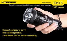 Special Offers - NiteCore TM15 2450 Lumens Tiny Monster Triple XM-L Flashlight Combo  with Free Diffuser - In stock & Free Shipping. You can save more money! Check It (July 07 2016 at 05:33AM) >> http://flashlightusa.net/nitecore-tm15-2450-lumens-tiny-monster-triple-xm-l-flashlight-combo-with-free-diffuser/