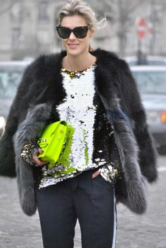 Daytime sequins #StreetStyle