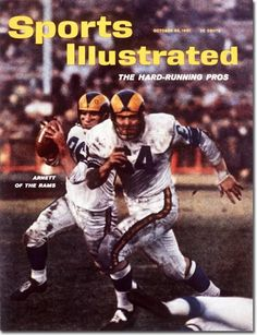 The Rams made their first Sports Illustrated cover appearance in Football Memes, Football Pictures, School Football, Sports Photos, Football Cards, Nfl Football, Sports Images, Sports Magazine Covers, Si Cover