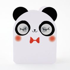 Panda Card with Moving Lenticular Eyes by pango78
