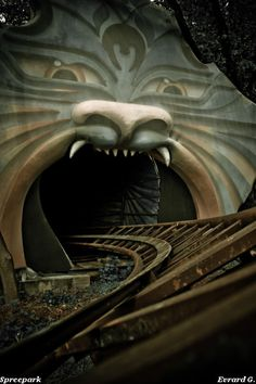 "It opens wide its jaw and awaits your foolish steps....  (Hamburg, abandoned Amusement ""Spree  Park"" , It's History!)"