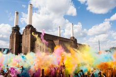 Holi Festival at Battersea Powerstation, London. I was there........it was Amazing!!!