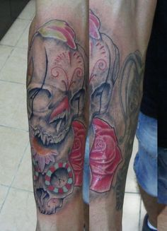 skull tattoo  www.tattooandtattoo.com