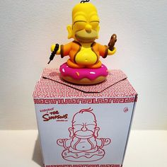 Buddha Homer Simpson kidrobot collectible toy available at www.lazydazeco.com