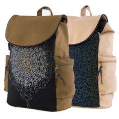ॐ Our NEW BACKPACKS With Padded Laptop Compartment !!   #sol #seedoflife #psychedelic #backpacks #laptopbag #sacredgeometry #psychedelicbags #festivalbag #burningman #ozora #lsd #trippy #bags #psytrance #goa #trance #tribal #vegan #canvasbags