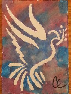 Peace Dove Blank Holiday Card by ColorsAndChords on Etsy