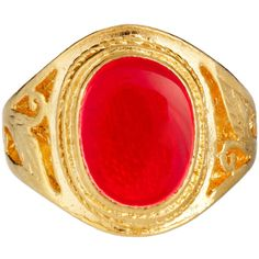 Susan Caplan Exclusive For Asos Vintage 90s Signet Ring ($14) ❤ liked on Polyvore