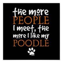 I love my poodle.