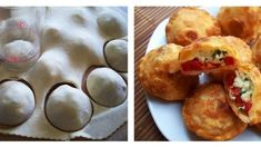 Fotopostup: Plnené BOMBY Muffin, Pizza, Breakfast, Basket, Morning Coffee, Muffins, Cupcakes