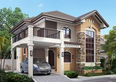 Modern bungalow house design philippines 2018 home designs ideas 2 Story House Design, Zen House Design, Modern Bungalow House Design, Bungalow House Plans, Bungalow Homes, Modern House Plans, Modern Zen House, Modern Design, Small Bungalow