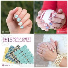 Over 300 different designs see more at my website and don't forget to buy 3 and you get 1 free. jamazingjammers.jamberrynails.net