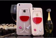 nice Hot sale Red Wine Cup Liquid Transparent Plastic PC Case For Samsung Galaxy S6 N3 N4 All Models Phone Cases Back Covers