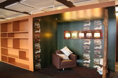 Design your office look like a book store! #officespacedesign