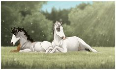 Role Play Art by Cat-Orb on DeviantArt Horses And Dogs, Cute Horses, Beautiful Horses, Animals Beautiful, Majestic Animals, Horse Drawings, Animal Drawings, Cool Drawings, Spirit The Horse
