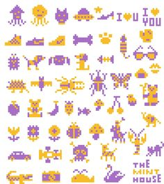 Cross stitch chart by Makoto Oozu http://www.theminthouse.com/