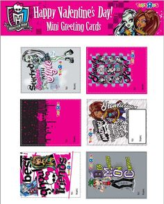 #MonsterHigh Valentines - just click and print!