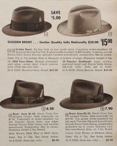 1950s men hats 1950s Fashion Menswear 18e63c8430b