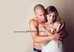 lovely family with newborn