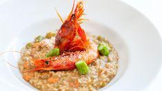 Risotto con gamberi e asparagi, risotto con gmaberi e verdure, risotto gourmet