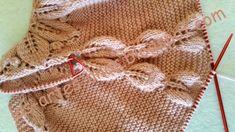 Una de mis últimas creaciones para recién nacido: se trata de un vestido con canesú de 10 hojas, va montado con 60 puntos , y agujas del ...