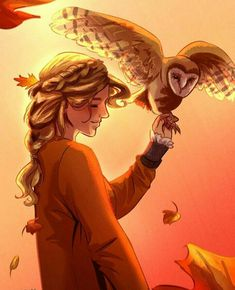 """ace-artemis-fanartist: """" A very autumn inspired Annabeth Chase. I tried thinking of a reason why she shouldn't be hanging out with one of her mom's owls, and I can't see why not. Percy Jackson Fan Art, Percy Jackson Fandom, Percy Jackson Wallpaper, Percy Jackson Characters, Percy Jackson Memes, Percy Jackson Books, Percy Jackson Drawings, Annabeth Chase, Percy And Annabeth"""