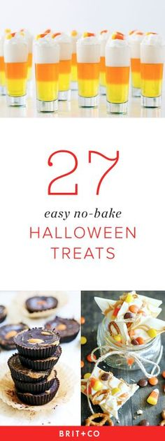 These no-bake Halloween sweets are so easy to make.