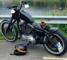 Harley Davidson News – Harley Davidson Bike Pics Harley Davidson Sportster 1200, Sportster Chopper, Sportster Motorcycle, Bobber Bikes, Harley Bobber, Harley Davidson Chopper, Harley Bikes, Chopper Motorcycle, Motorcycle Garage