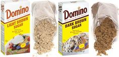 Difference between: light brown sugar and dark brown sugar.