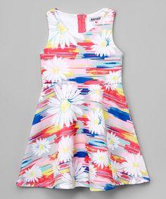 Look at this #zulilyfind! Red & Blue  Daisy Skater Dress - Infant, Toddler & Girls by kensie #zulilyfinds