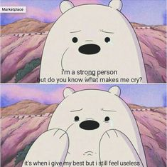 grizzly bear we bare bears meme ~ grizzly meme _ bear memes grizzly _ grizzly we bare bears meme _ grizzly bear we bare bears meme _ we bare bears memes grizzly _ grizzly bear meme _ grizzly adams meme _ grizzly man meme Cartoon Quotes, Cartoon Pics, Cute Cartoon Wallpapers, Sad Quotes, Movie Quotes, Qoutes, Ice Bear We Bare Bears, We Bear, Bear Meme