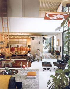 Charles and Ray Eames in Case Study No. 8, Pacific Palisades | My Contents Have…