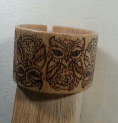 #woodburningwristband#baykuşluahşap