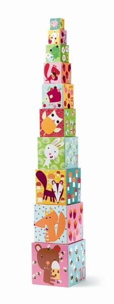 Stacking Cubes- Forest Animals
