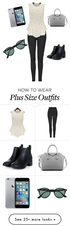 """""""Pretty lady"""" by emily1200 on Polyvore featuring Topshop, Givenchy, Ray-Ban, women's clothing, women, female, woman, misses and juniors"""