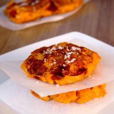 Galettes de patates douces au chorizo et paprika © Amandine Cooking