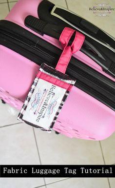 How to make homemade fabric luggage tags