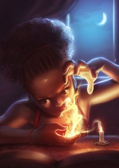 ArtStation - Playing with fire, Godwin Akpan