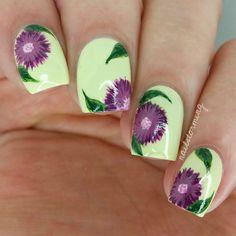 Nail Art Tutorial: Purple Flowers