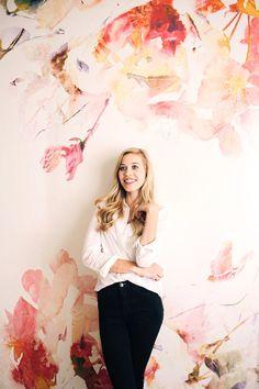 [CasaGiardino] ♛ Spring Floral Large Wall Mural Watercolor Mural by anewalldecor