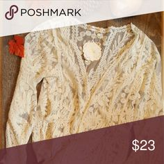 ⬇️ $23 Simply Couture Lace Cardigan Size S NWT Simply Couture Lace Cardigan  Size: Small  Color: Cream Simply Couture Sweaters Cardigans