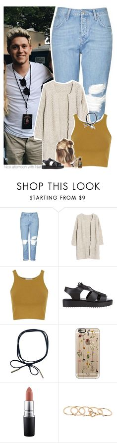 """""""Nice afternoon with Niall"""" by heslovely ❤ liked on Polyvore featuring Topshop, Glamorous, Soles, Casetify, MAC Cosmetics and With Love From CA"""