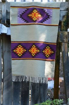 Kilim rug, handwoven wool rug, grey floor rug with violet, yellow and red motifs, unique area rug, handmade rug