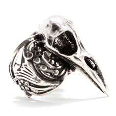 Raven Skull Ring Adjustable, $30, now featured on Fab.