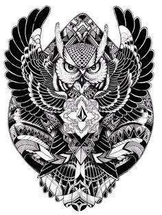 volcom clothing design - Iain Macarthur owl tattoo